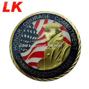 3Dワシデザインのカスタマイズされた最大金属の挑戦硬貨