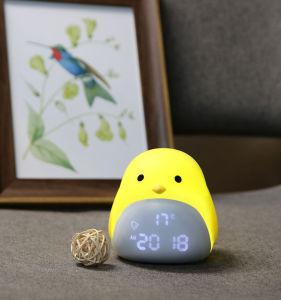 2019 Fashion Design Animal Kids Despertador LED brilhante com o relógio do mostrador de temperatura