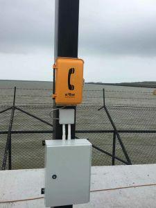 Knsp-03 impermeables de minería de túnel ferroviario en la carretera Teléfono VoIP de teléfono de emergencia