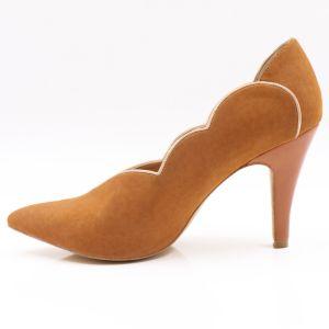 高品質の小剣のハイヒールの革は女性をポンプでくむShoes