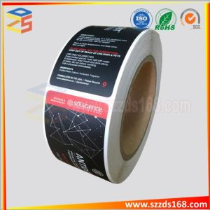 Kundenspezifischer Kennsatz und Aufkleber des Drucken-anhaftender Papier-/Kurbelgehäuse-Belüftung