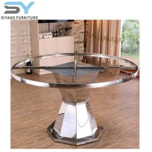 Muebles de Comedor Royal juego de comedor Mesa Redonda mesa de mármol Foshan