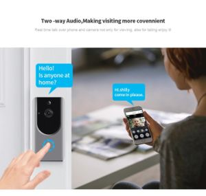 Camera van de Klok van de Deur van de Intercom van WiFi de Video met de Slimme Controle van de Telefoon