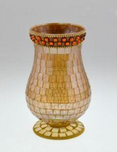 Neuer Entwurfs-dekorative Mosaik-Glas-Kerze-Halter