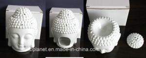 2014 Nova cabeça de Buda de Cerâmica Branca queimador de óleo e lâmpada de aroma de cerâmica