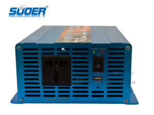 Suoer DC 12V a 220V AC 1000W Onda senoidal pura Inversor de potencia (FPC-1000A)