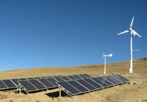 ホームまたは農場の使用のための5kwハイブリッド風の太陽系