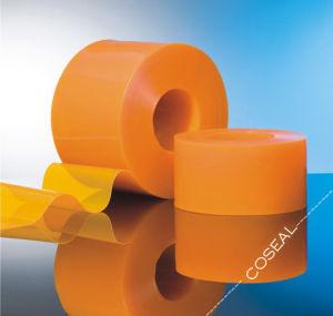 黄色かオレンジInsect-Proof PVCプラスチックストリップのカーテン