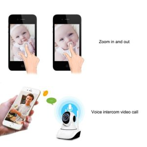 720p無線IPの保安用カメラHD鍋または傾きの双方向の可聴周波赤ん坊またはペットまたは乳母のモニタ日の夜間視界