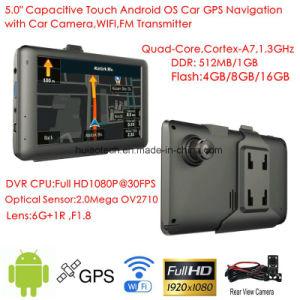 gravador de vídeo Android DVR de 5.0  Digitas do carro do ósmio com ósmio do Android 4.4, navegação do GPS; câmera do carro 2.0mega, câmera de estacionamento; Multi-Tocar no PC da tabuleta