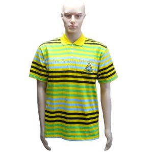 남성을%s 고전적인 줄무늬 폴로 셔츠