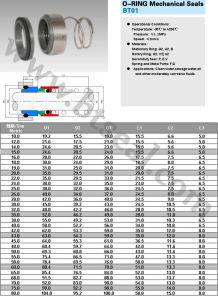 Guarnizioni meccaniche del giunto circolare (BT38) 1