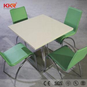 Мраморные камень в верхней части таблицы 4 Seaters обеденный стол в ресторане