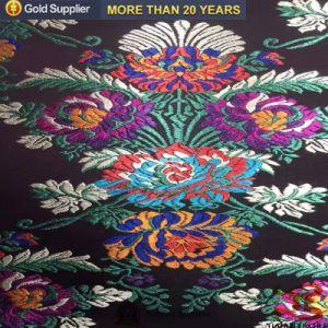 China tecido Jacquard Polyester Brocade Fabric de pano de mesa ou cobertor