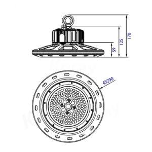 Fabricante da luz exterior IP65 30W/60W/80W/100W/120W/150W/200W/240W/250W/300W/400W/500W OVNI Highbay LED
