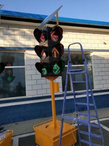 Muebles Solar-Powered/Portable semáforo con tres módulos