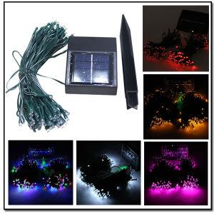 Angeschaltene feenhaftes Licht-Solarsolarzeichenkette des Zeichenkette-Licht-33FT 11meters 60LED für den Garten, im Freien, Haupt, Weihnachtsfest