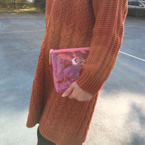 明らかにカスタマイズされるクラッチ・バッグに透過防水化粧品袋の洗面用品を構成しなさい
