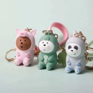 Plastique de haute qualité 3D de promotion de caoutchouc de silicone OEM PVC trousseau drôle jouet (KC-N109)