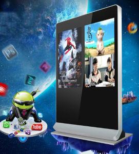 55 Inch- double écrans réseau WiFi du moniteur LCD numérique HD écran LCD du panneau de signalisation LED intérieure de l'écran numérique de la publicité commerciale d'affichage vidéo