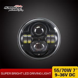 7inch円形のヘッドライトHi/LowのビームLEDヘッドライト