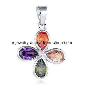La Joyería de Plata de la mariposa de cristal Colgante Collar de mariposas