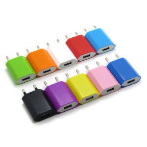Farbe 5V 1000mA Wechselstrom-Adapter EU stecken USB-Wand-Aufladeeinheit für iPhone 7 6 iPod 6s 5 4 ein