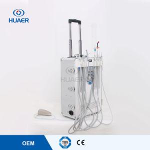 Oillessの空気圧縮機が付いているTUVのセリウムの公認の携帯用歯科単位