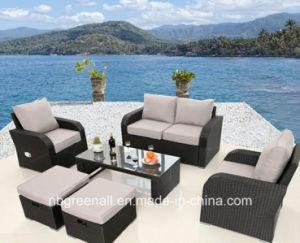 Estabelecer novo sofá de vime pátio jardim Mobiliário de exterior