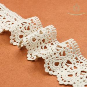 Lacet Nuptiale de Lacet de Garniture du Coton L30017 pour la Robe de Mariage
