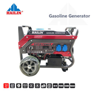 4 tiempos Air-Cooled Industrial AC alimentación monofásica y trifásica y portátil generador de gasolina con Kit de ruedas