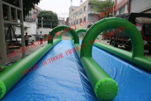 1000 pies inflables gigantes de doble carril Slip N Slide