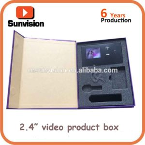 주문을 받아서 만들어진 2.4  선물 상자를 광고하는 LCD 음악 보석