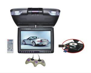 11 lettore DVD dell'automobile del montaggio del tetto di pollice con lo schermo 180-Degree della Di sinistra-Parte girevole con il gioco funziona