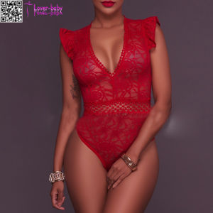 Sexy dormir Sheer Lace Bodysuit L81185