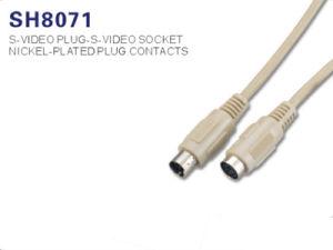Высокое качество S-Video Разъем гнездовой кабель (SH8071)