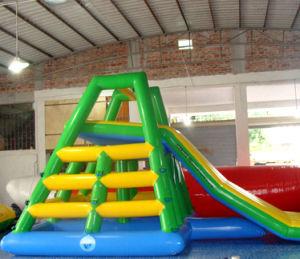 Funny flotante de agua inflable Slide / precio de fábrica de juguetes agua inflables