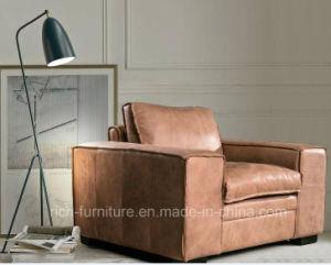 Alte Art-Leder-Sofa für Wohnzimmer