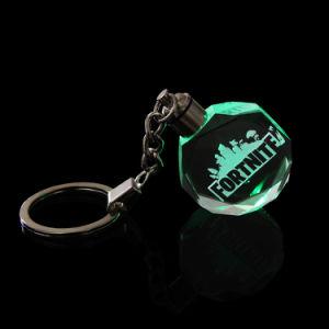 선물을%s 수정같은 유리 열쇠 고리를 새기는 3D Laser