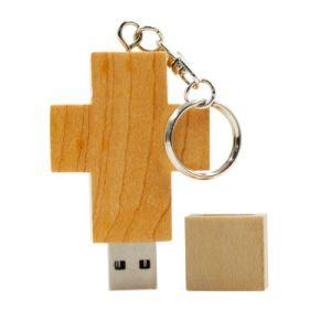 木USB駆動機構の十字の形USB2.0のメモリ棒