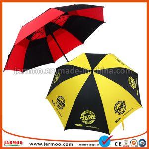 昇進の折るゴルフ傘を広告する卸し売りカスタムロゴの防水防風の印刷
