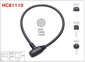 Bicicleta recto el bloqueo de cable de acero para las personas (HC81110)