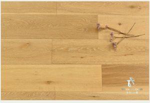 Ingeniería de suelos de madera de roble, la nueva capa 3 (cinco) cepillado, Laca UV