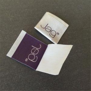 Prendas de Vestir personalizadas Camisetas de poliéster brillante Material de hilo de rosca Etiquetas ropa etiquetas tejidas