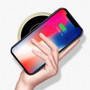 Mejor diseño delgado Ultral 5W 7.5W 10W Qi espejo rápido Wireless Cargador de teléfono móvil