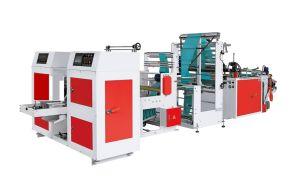 Deux fois entièrement automatique V-Replier le bas sac d'étanchéité-on-roll Making Machine