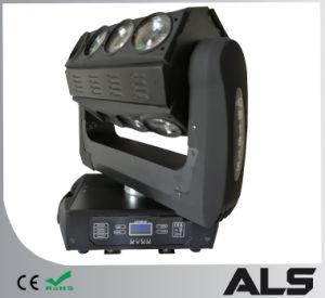 디스코 DMX DJ는 단계 RGBW LED 광속 이동하는 맨 위 효력 빛을