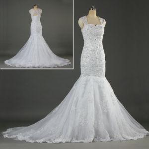 2019 Fundas tapa encaje vestido de novia vestidos de novia Sirena Ka054