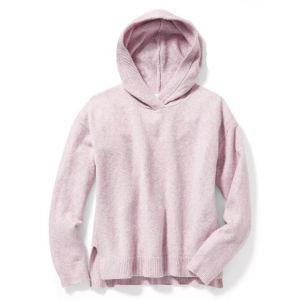 Mode d'enfants Solid Color Hoodies Plaine à manchon long pull Hoody filles pullover en tricot