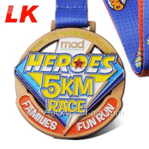 Métal personnalisée Sport Course Marathon Award médaille avec cordon
